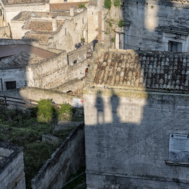 """""""Silhouettes of tourists in Puglia, Italy"""" stock image"""
