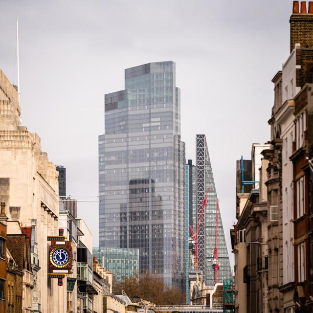 """Leadenhall Building and 22 Bishopsgate, London, UK"" stock image"