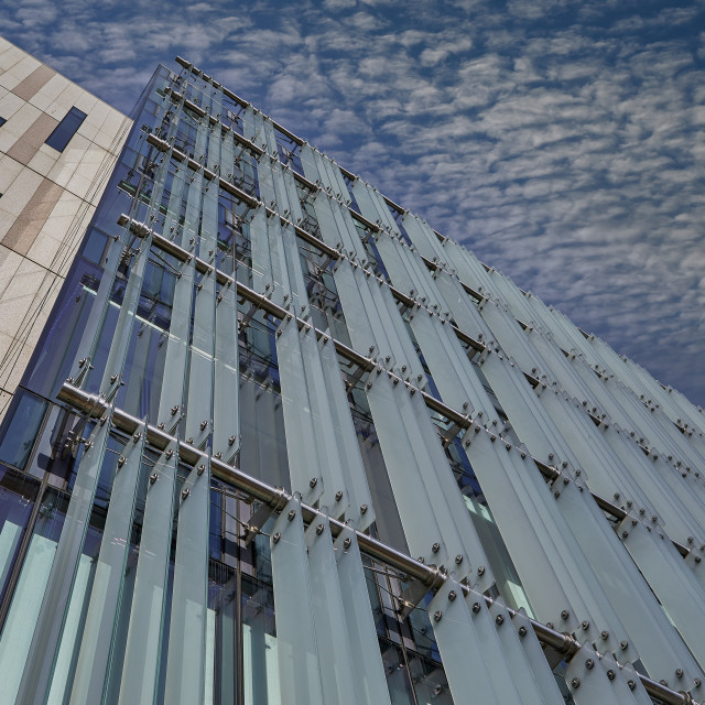 """""""Abstract image of office block, St Helier, Jersey CI - Editorial Use Only"""" stock image"""