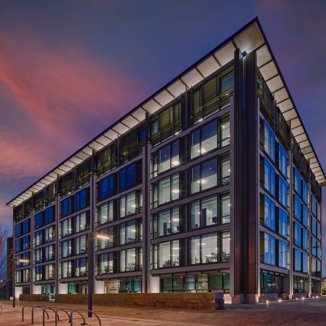"""""""Image of IFC1, (International Finance Centre), St Helier, Jersey CI - Editorial Usage Only"""" stock image"""