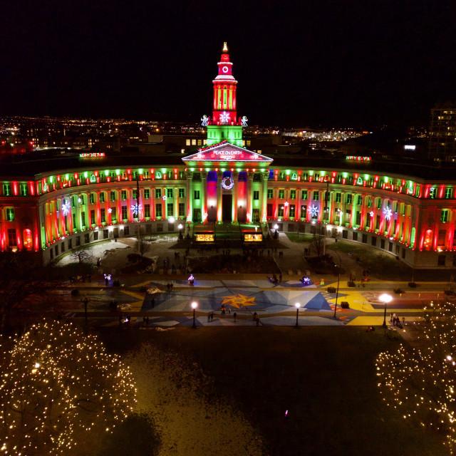 """""""Christmas in Denver"""" stock image"""