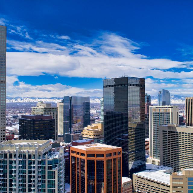 """Blue Skies in Denver"" stock image"