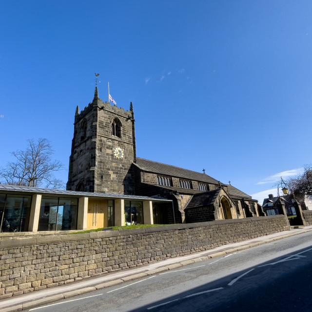 """All Saints Parish Church, Ilkley, Yorkshire."" stock image"