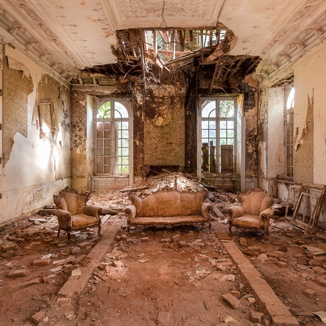 """""""Abandoned Castle in Decay"""" stock image"""