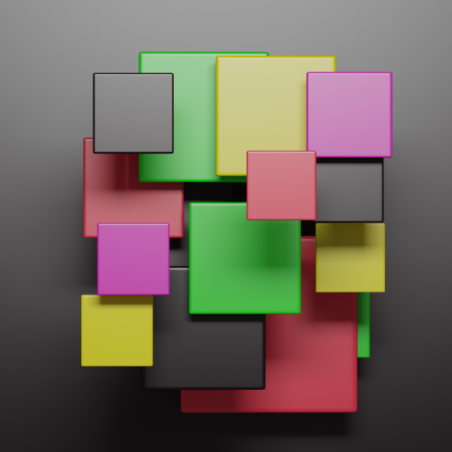 """""""Colorful squares on black background"""" stock image"""