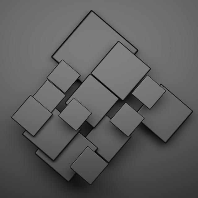 """Black squares on black background"" stock image"