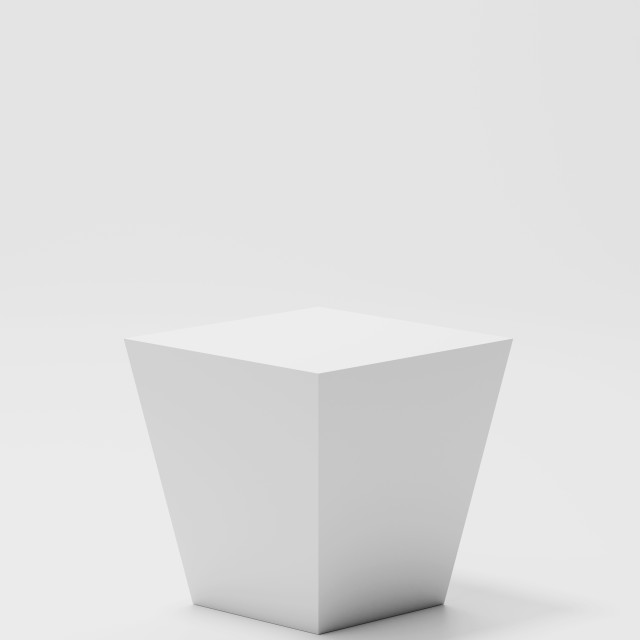 """""""White cube stand"""" stock image"""
