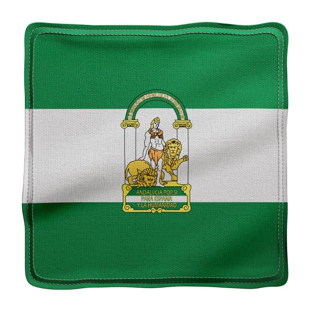 """3d Andalucia region flag"" stock image"