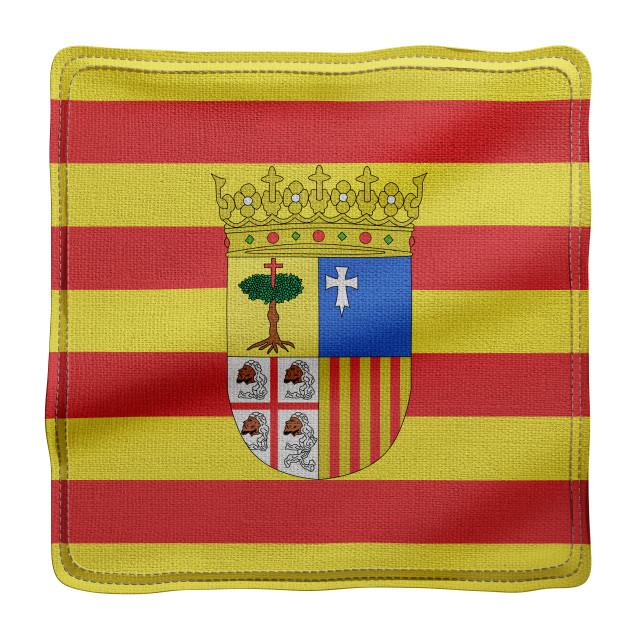"""3d Aragon region flag"" stock image"