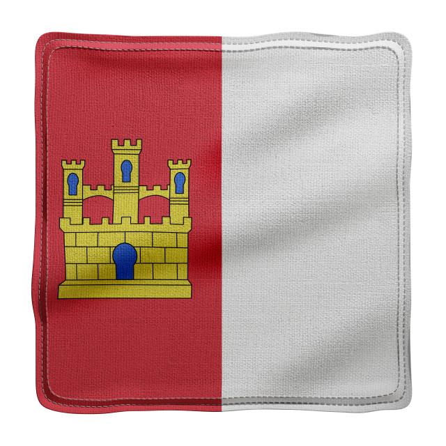 """""""3d Castilla La Mancha region flag"""" stock image"""