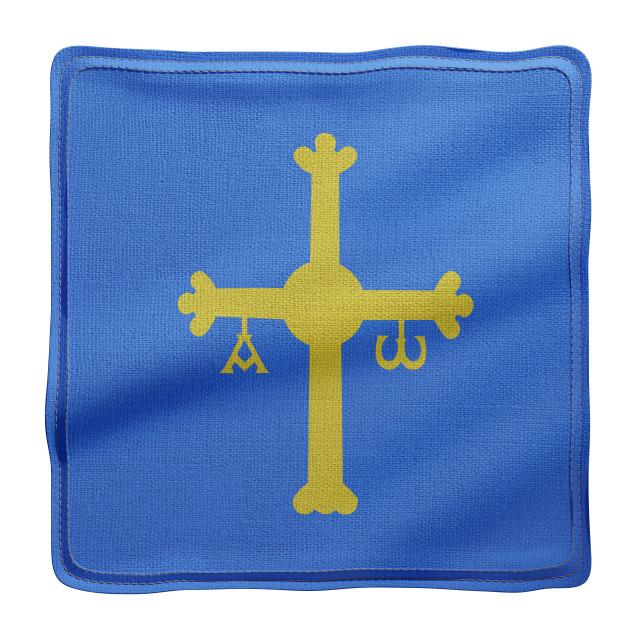 """3d Asturias region flag"" stock image"