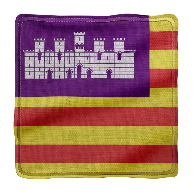 """3d Balearic islands region flag"" stock image"