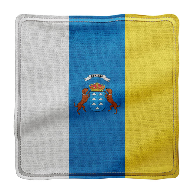 """3d Canary islands region flag"" stock image"