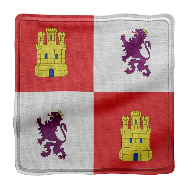 """""""3d Castilla Leon region flag"""" stock image"""