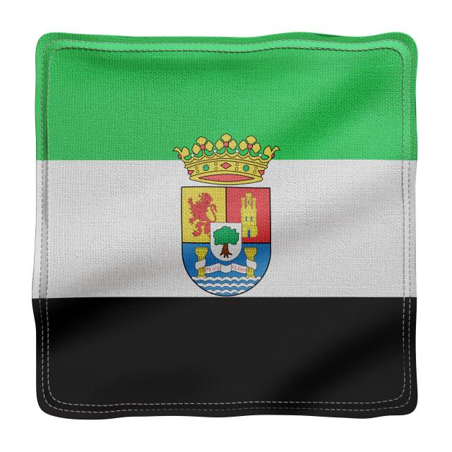 """3d Extremadura region flag"" stock image"