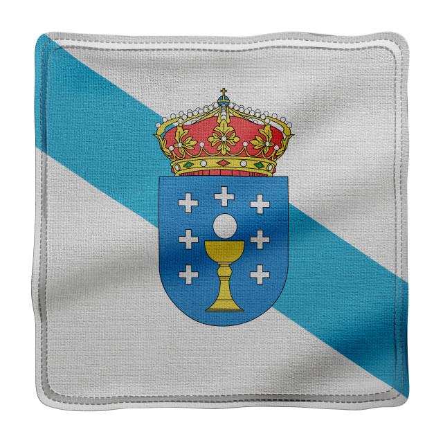 """3d Galicia region flag"" stock image"