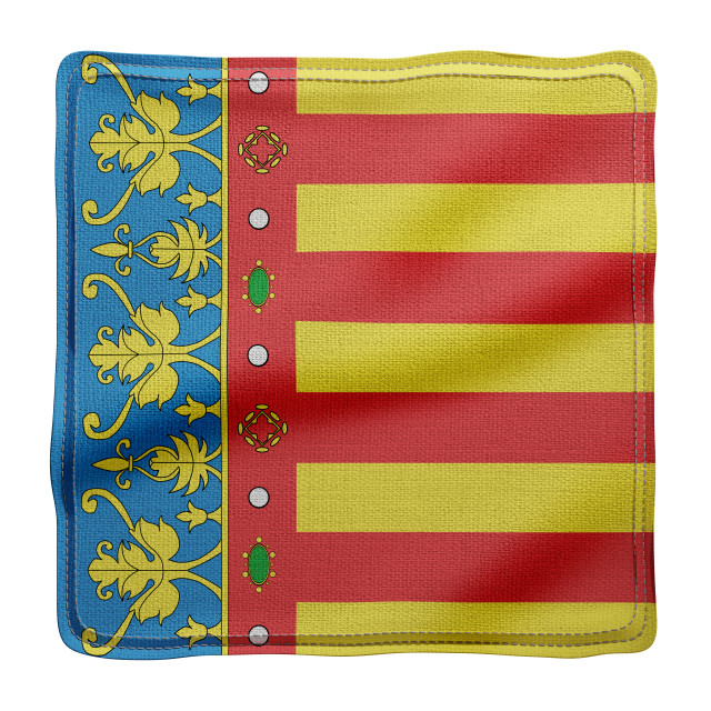 """3d Valencian region flag"" stock image"