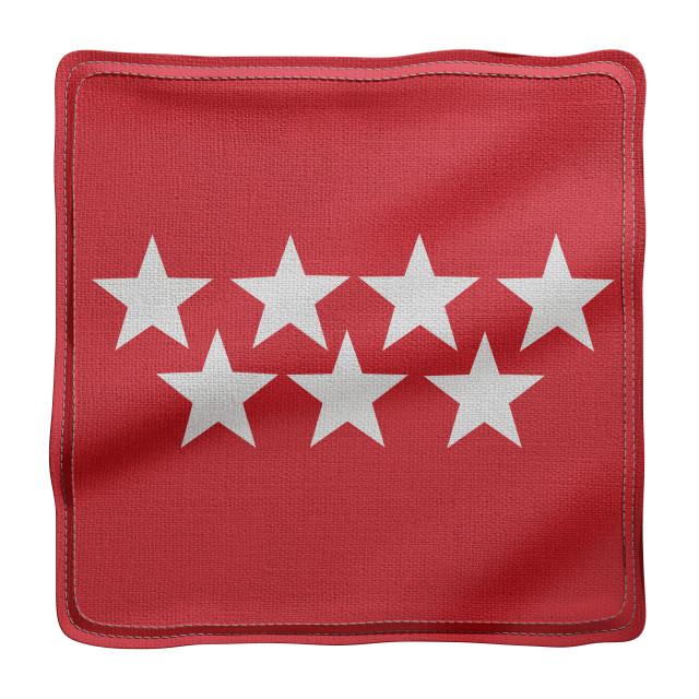 """3d Madrid region flag"" stock image"