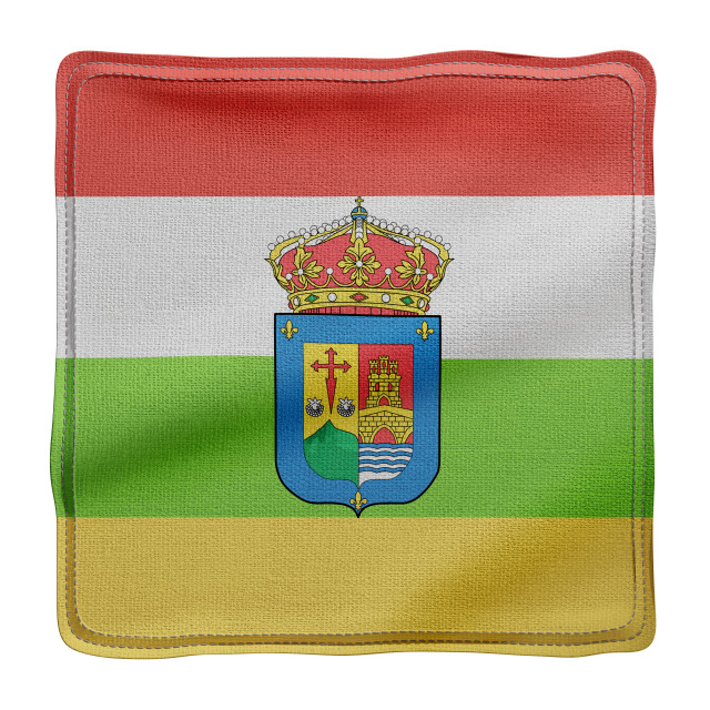 """3d La Rioja region flag"" stock image"