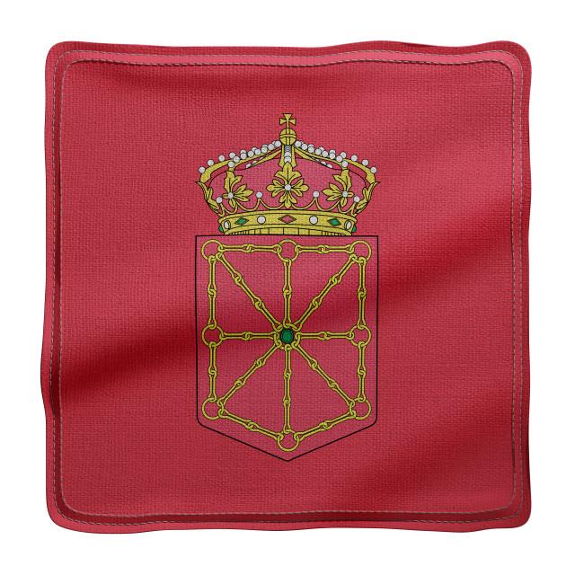 """3d Navarra region flag"" stock image"