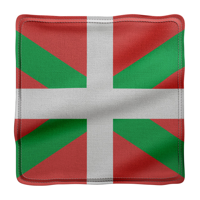 """""""3d Basque Country region flag"""" stock image"""