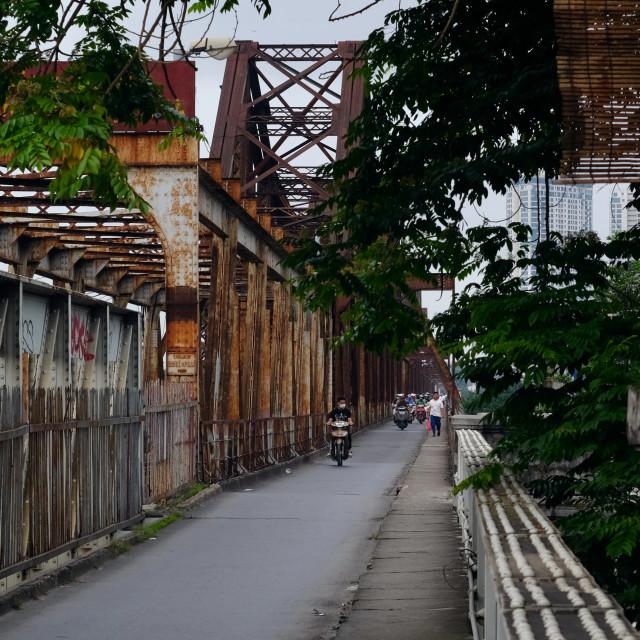 """Street life in Hanoi, Vietnam"" stock image"