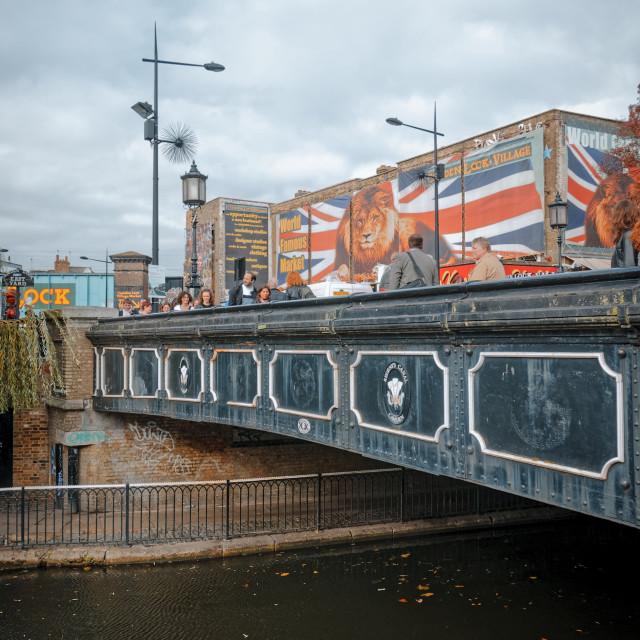 """Regent's Canal, Camden Town, London, England"" stock image"