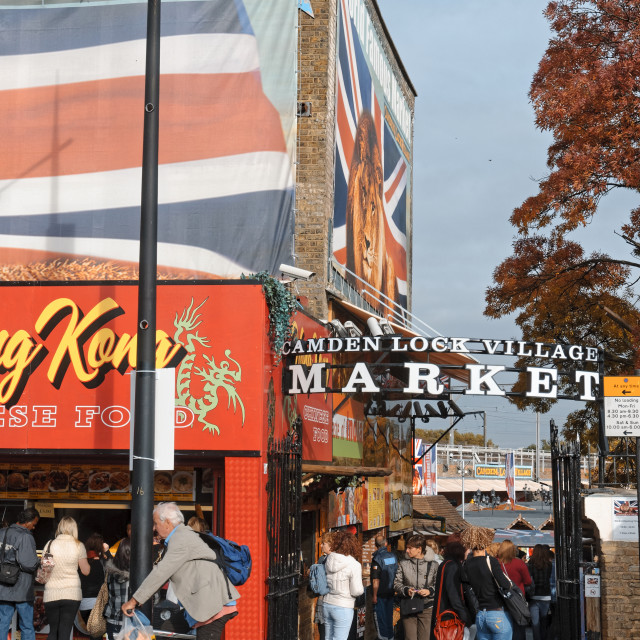 """Camden Lock Village Market"" stock image"