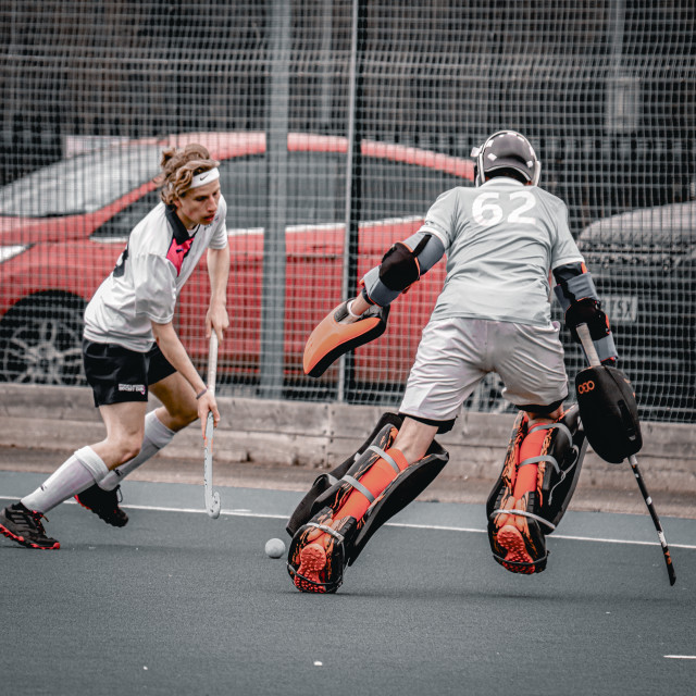 """Field hockey players"" stock image"