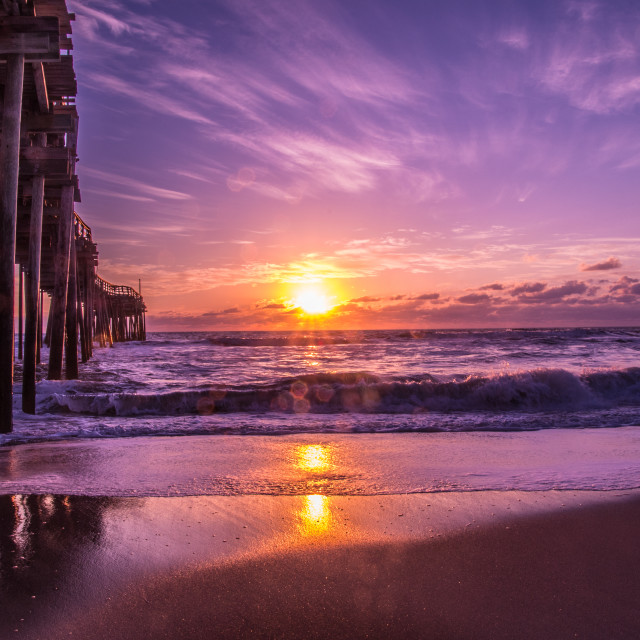 """Avon Pier at Sunrise"" stock image"