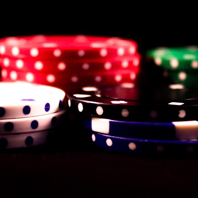 """""""Poker Chips."""" stock image"""