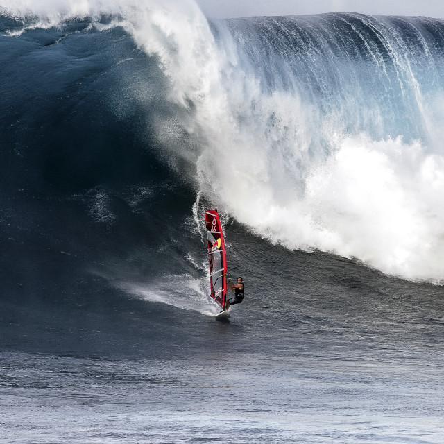 """""""Big Wave Surfing ..."""" stock image"""