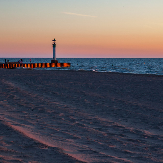 """""""Grand Bend Pier at Sunset"""" stock image"""