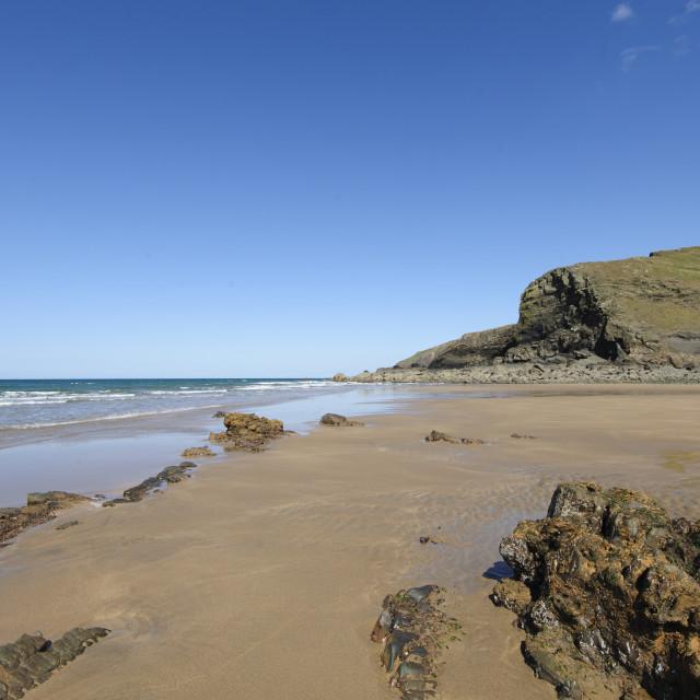 """Duckpool Beach, North Cornwall"" stock image"