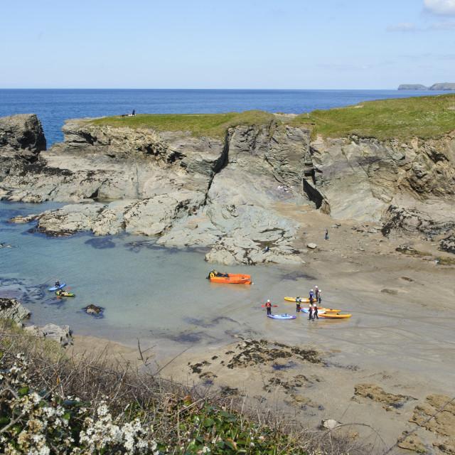 """Port Gaverne, North Cornwall"" stock image"