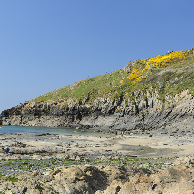 """Port Quin, North Cornwall"" stock image"