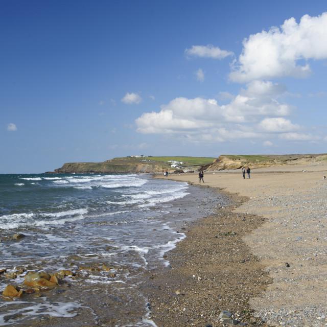 """Widemouth Beach, North Cornwall"" stock image"