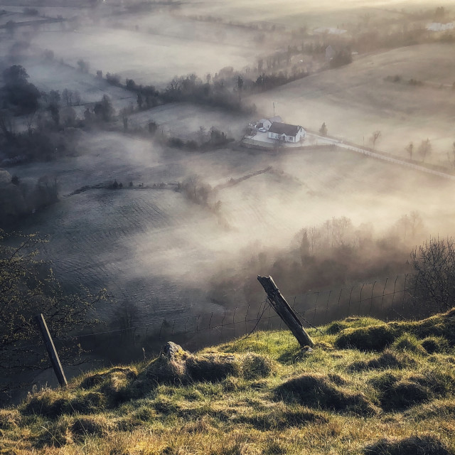 """""""House in the Mist"""" stock image"""
