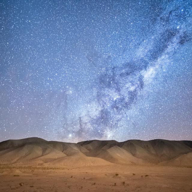 """Night sky in the Atacama desert"" stock image"