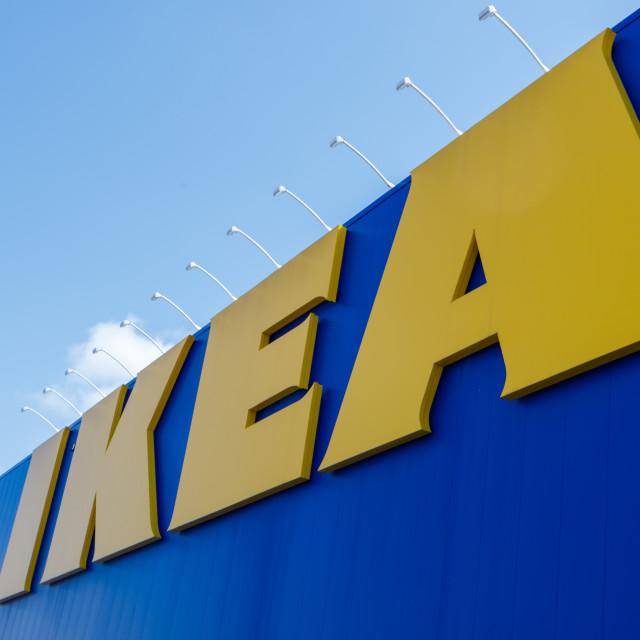 """IKEA Sign on furniture store in Ottawa, Canada"" stock image"