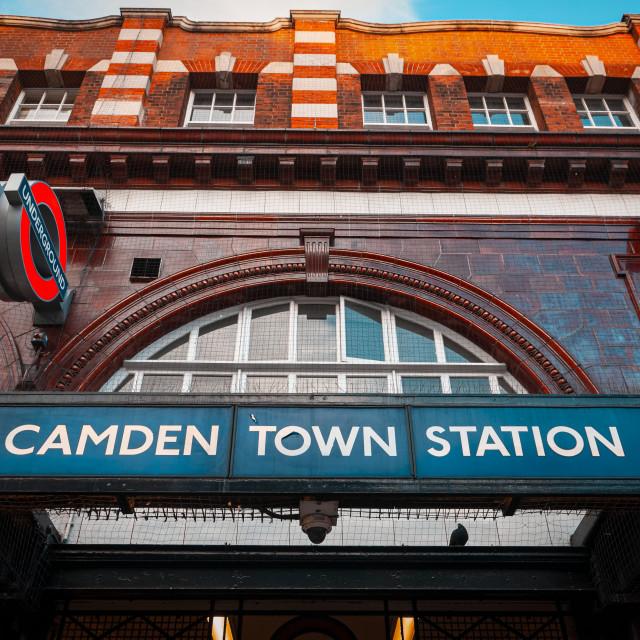 """""""Camden Town Underground Station"""" stock image"""