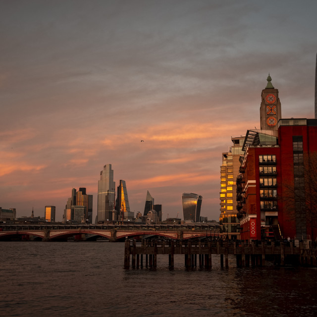 """""""Early Evening Skyline view over London"""" stock image"""