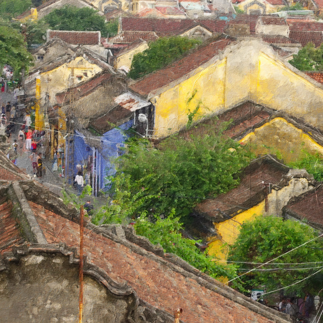 """""""Hoian, the ancient town."""" stock image"""