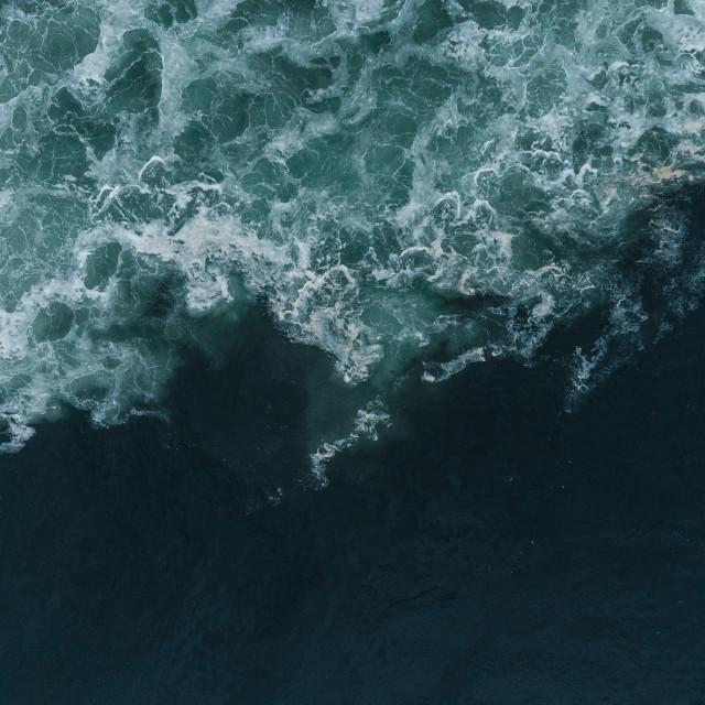 """""""Wild Atlantic Waves"""" stock image"""
