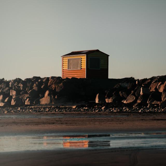 """""""The Lifeguard Hut"""" stock image"""