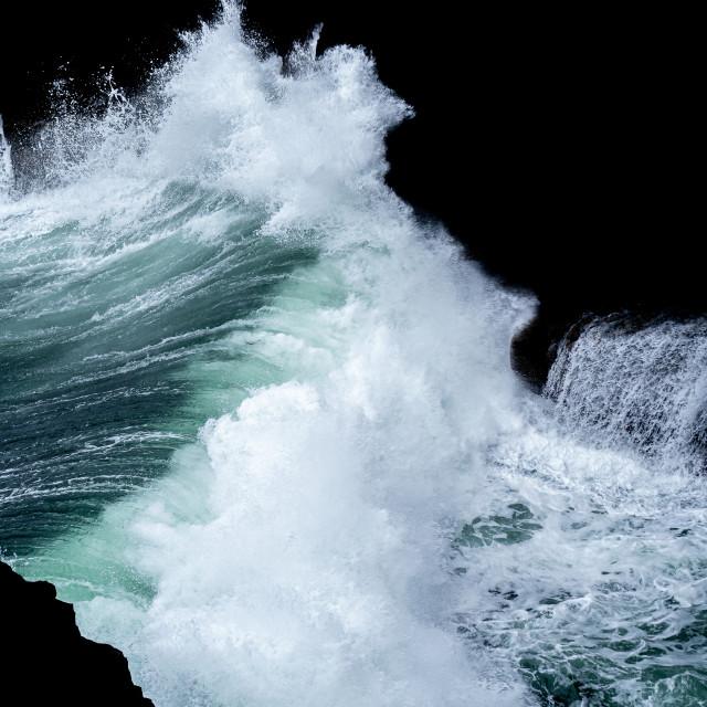 """Waves of the Wild Atlantic Way"" stock image"