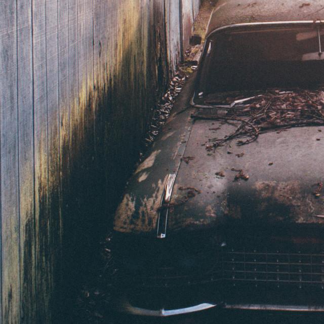 """""""Abandoned Car"""" stock image"""