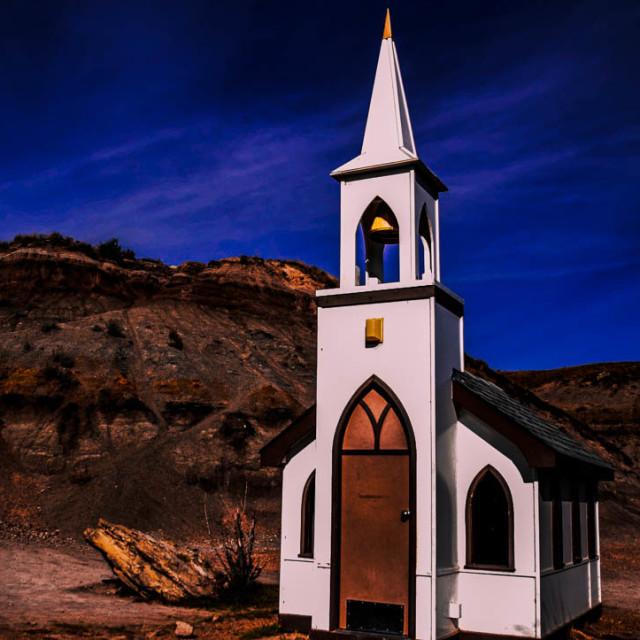 """Mini White Church"" stock image"