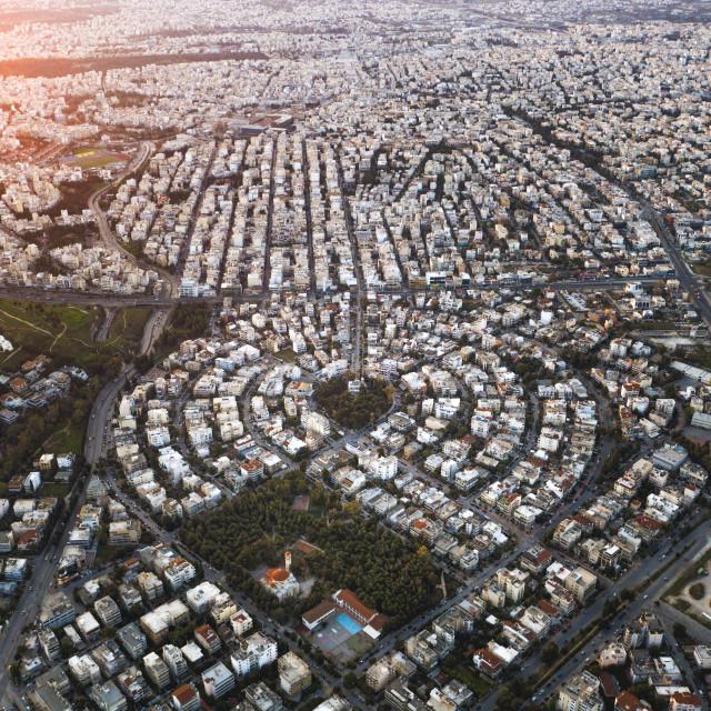 """""""Square Panaitolikou - Athens"""" stock image"""
