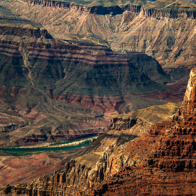 """""""Sunset At The Grand Canyon"""" stock image"""